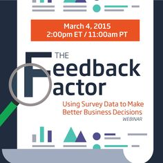 It's time to transform your data into insight-based action! Learn how in our upcoming #webinar and discover how #feedback can aid in smarter decision making. Register here: http://vrl.ht/1C0B1