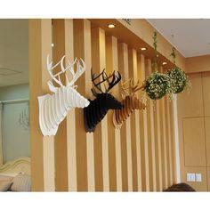 Decoration murale Kit Trophee de chasse Puzzle 3D carton original animal Tete de Cerf Large Marron: Amazon.fr: Cuisine & Maison