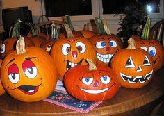 Painted pumpkin ideas Pumpkin Faces Pictures, Pumpkin Patch Pictures, Cute Pumpkin Faces, Pumpkin Pictures, Pumpkin Face Templates, Pumpkin People, Pumpkin Painting, Pumpkin Face Paint, Painting Pumpkins