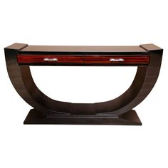 Art Deco Console Table - I am so partial to furniture with curves.... this superb console is an object of art.