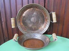 Vintage Hand Crafted Hammered Copper Dishes with by peacenluv72, $18.50