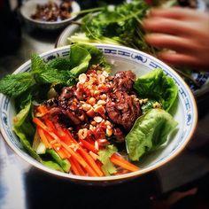 beef, Bun Bo Xao, lemongrass, recipe, Rice Noodles, salad, Vermicelli Noodles, Vietnamese, chilled, cold, noodles