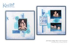 This project will show you how to create a bright and double page layout using Dylusion Paints, Ezy-Press Dies and show you how to alter Chipboard Hearts. Scrapbooking Layouts, Scrapbook Pages, Indigo Blue, Page Layout, Finding Yourself, Workshop, Chipboard, Create, Paper