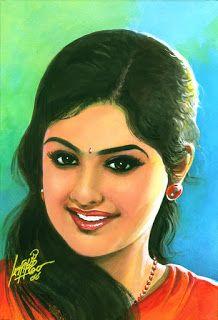Oviyar Maruthi Indian Women Painting, Indian Art Paintings, Sexy Painting, Painting Of Girl, Pencil Sketch Portrait, Indie Art, Celebrity Drawings, Kerala India, Krishna Art