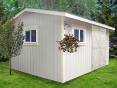 Bird Boyz Builders wood gable style shed with overhang, 12x16 wood sheds, wood shed kits, storage sheds, garden sheds, diy sheds - http://www.birdboyzbuilders.com/