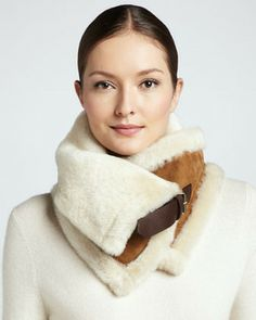 UGG Australia Uptown  Fur Snood, Chestnut on shopstyle.com