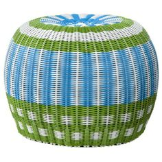 I almost think you don't even need that coffee table, since you have the side table... but an ottoman or pouf might be nice for in front of the couch