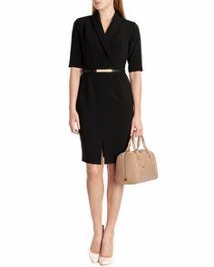 Pencil skirt dress - Black | Dresses | Ted Baker ROW