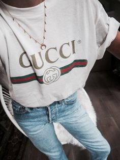 GUCCI TEE AND DENIM //pinterest: juliabarefoot