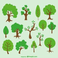 Diverse trees cartoon pack  - Freepik.com-Trees-pin-44