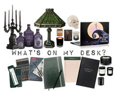 """What's on my Desk?"" by amandamaier ❤ liked on Polyvore featuring interior, interiors, interior design, home, home decor, interior decorating, Rifle Paper Co, EB Florals, Faber-Castell and Smythson"