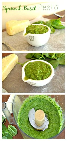 Learn how to make homemade pesto with only a handful of ingredients and in less than 5 minutes! wholeandheavenlyoven.com
