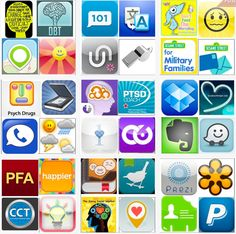 "50 apps For Social Workers/Therapists from Creative Clinical Social Worker, ""a space for social workers and therapists to share useful interventions, resources, activities, etc. Social Work Apps, Social Work Activities, Social Work Practice, School Social Work, Mental Health Counseling, Counseling Psychology, School Psychology, Therapy Tools, Play Therapy"