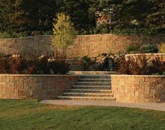 modular retaining walls landscape design - Google Search