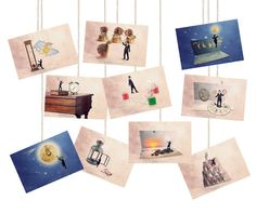 Sets of postcards Postcard set Postcard Fun by PhotographyDream,