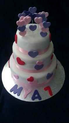 3 Tier Sweetheart Birthday Cake
