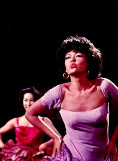 "Rita Moreno in West Side Story my fav # in this movie ""America"" love it! My dress was modeled after hers when I was in West Side Story 😊 Rita Moreno, Beau Film, Broadway, Old Movies, Great Movies, My Fair Lady, West Side Story 1961, Anita West Side Story, West Side Story Movie"