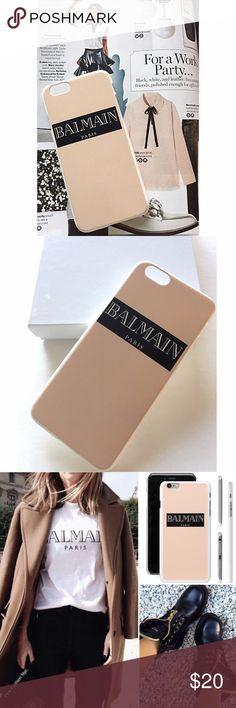 Light Pink Balmain phone case iphone6plus Very Chic handmade Balmain inspired phone case for iphone 6/6S plus. Only in our boutique our design  No trades  Accessories Phone Cases