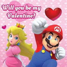 From friendships to true love, these Nintendo characters know how to celebrate Valentine's Day! Valentines Day Cards Diy, Be My Valentine, Peach Mario, Text Memes, Nintendo Characters, Diy Cards, Super Mario, True Love, Printables