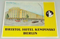 Bristol Hotel Berlin Vintage Luggage Label by HarrysCollectables Luggage Labels, Vintage Luggage, Bristol, Berlin, Etsy