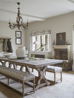 Interior design Traditional English styled home | dining room ideas in historic manor house | very English style