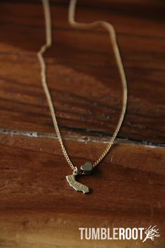 State Love Charm Necklace - all 50 states available! | TumbleRoot