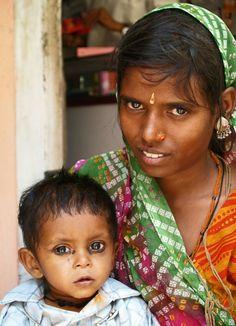 Moeder en kind - India,