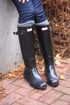 Hunter Boots original tall gloss #hunter #fashionblog #fall  Because if anything my 1st pair will be these black wellies/hunters ❤️