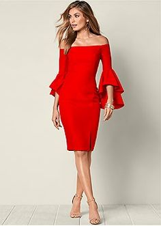 Red dress Carmen time to shine! Time to look fabulous. Be shining and bright for affordable prices and enjoy your happier moment with this red dress. Formal Dress Shops, Formal Dresses, Party Dresses For Women, Summer Dresses, Cheap Dresses, Wedding Dresses, Outfit Vestido Negro, Dress Outfits, Dress Up