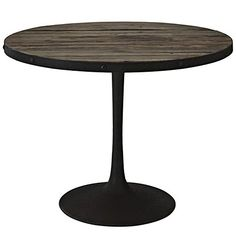 Drive Wood Top Dining Table in Brown