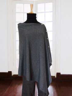 Cashmere poncho with buttons / Cashmere poncho / by SoftyWooly, $109.00