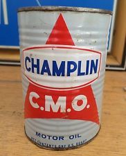 X CHAMPLIN CMO MOTOR OIL GAS STATION CAN