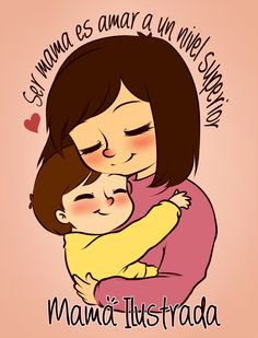 Mother And Child Drawing, Mother Art, Drawing For Kids, Mommy And Son, Mom And Baby, I Love Mom, Mothers Love, Disney Drawings, Cute Drawings