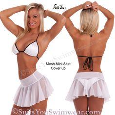 Mesh Mini Skirt, cute little cover-up.