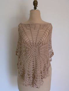 Sexy Spider Web WOVEN SHAWL SHIRT by HousewifeVintage on Etsy, $29.00