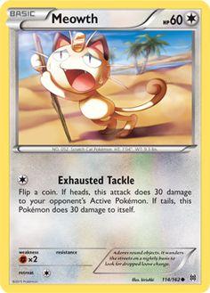 Meowth | Basic | Normal | NO. 052 Scratch Cat Pokemon | 114/162