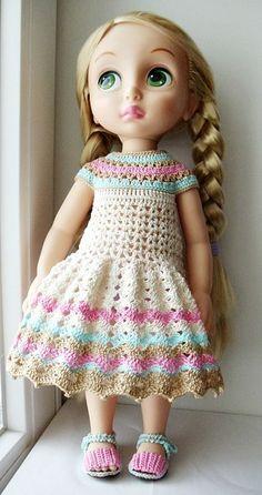 Doll Clothes / Disney Animator Doll / Crochet