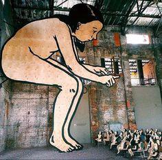 Alexander Hokusai installation in Saint Petersburg, Russia for Street Art Museum (LP)