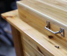 Getting the finishing touches on the grilling and chilling station. Love the way this finish turned out and how warm the cedar is. What projects are you going to finish before you start BBQing?  #finishingtouches #hardware #fixthisbuildthat de fixthisbuildthat