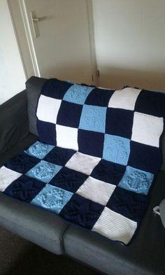 Ledikant deken # anker en ster