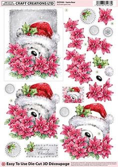 Craft Creations Die Cut Decoupage Santa Bear # Flea Market # Craft Creations # Feel free to add your name to our vendor directory Visit - http://www.niagarafleamarket.ca/vendor-directory