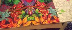 Quando me deparei com a pintura da Elke Talone amei o colorido e foi o impulso para que eu começasse a pintar o livro que ganhei da minha mana, Marta !