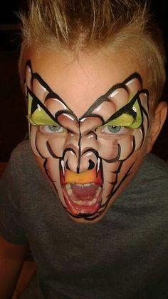 Kids #Halloween snake face paint ideas! #Snazaroo #facepaint