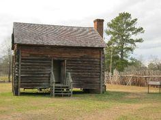 Log cabin          Historic Camden Revolutionary War Site