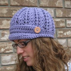 Newsboy hat newsboy capLavender hatbrimmed by DesignsByWillowcreek Hand Crochet, Crochet Hats, Ear Hats, News Boy Hat, Lavender Color, Headbands, Beanie, Cap, Etsy Shop