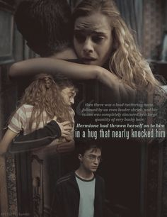 this part made me mad cause she never hugged Ron that way. I was such a weird 11 year old.