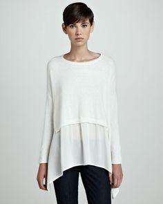 Layered Handkerchief Pullover Top by Robbi & Nikki at Neiman Marcus.