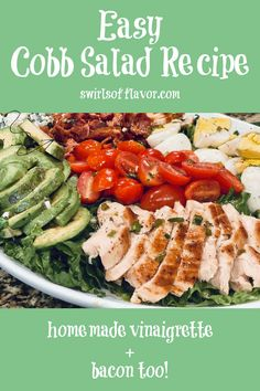 Easy Salad Recipes, Easy Salads, Side Dish Recipes, Real Food Recipes, Cobb Salad Ingredients, Cauliflower Rice Salad, Honey Mustard Salad Dressing, Easy Vegetable Side Dishes, Homemade Mayonnaise