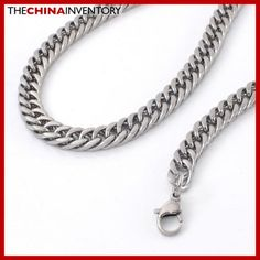 9MM 20` STAINLESS STEEL CURB CHAIN NECKLACE N2406