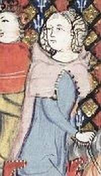 Kaproen met knoopjes voor vrouw Alexanderroman, ca. 1350